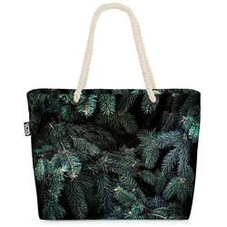 VOID Strandtasche (1-tlg), Tannen Winter Bäume Beach Bag Tannenzweig Tanne Tannenbaum Pflanzen Baum Christ