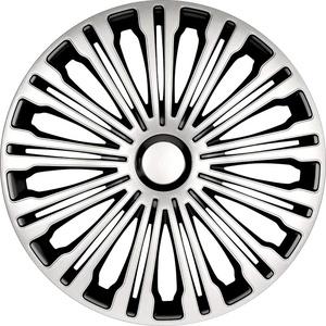 Satz Radzierblenden Volante 15-Zoll Silber/Schwarz