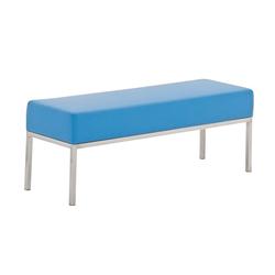 CLP Sitzbank 3er Sitzbank Lamega Kunstleder, 3er Sitzbank Kunstleder Sitzmodul blau