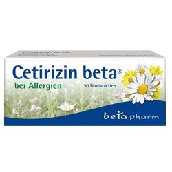 Ceterizin Beta Filmtabletten 90 St Filmtabletten