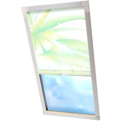 Dachfensterrollo Dekor, Liedeco, Lichtschutz, in Führungsschienen grün Dachfensterrollos Rollos Jalousien Rollo
