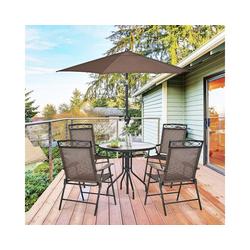 COSTWAY Klappstuhl Terrassenstühle Hochlehner bis 120kg belastbar