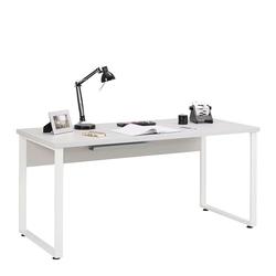 Büroschreibtisch in Weiß und Grau 160 cm breit