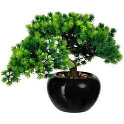 Kunstbonsai Bonsai Lärche Bonsai Lärche, Creativ green, Höhe 26 cm, im Keramiktopf grün