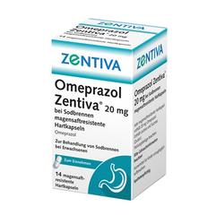 OMEPRAZOL Zentiva 20 mg bei Sodbrennen 14 St