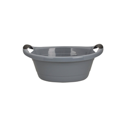 HTI-Living Wäschewanne Wanne 25 oval grau