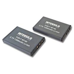 INTENSILO 2x Li-Ion Akku 1300mAh (3.7V) für Kamera Camcorder GoBandit GPS HD Action Helmkamera wie NP-60, DB40.