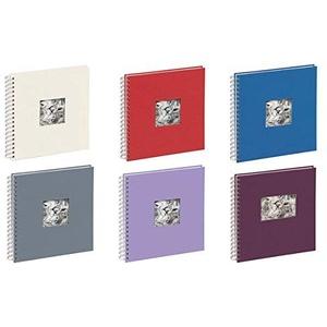 Pagna 12156-06 Passepartout-Spiralalbum 240 x 250 mm 50 Seiten, Leineneinband mit Passepartout Fotokarton weiß mit Pergamin, blau