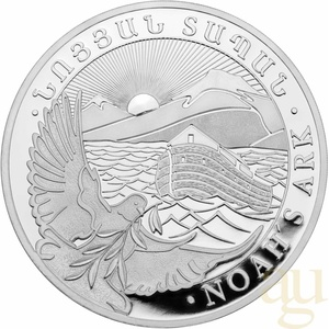 5 Kilogramm Silbermünze Armenien Arche Noah 2021