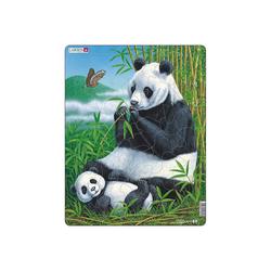 Larsen Puzzle Rahmen-Puzzle, 33 Teile, 36x28 cm, Panda, Puzzleteile