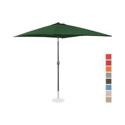 Uniprodo Sonnenschirm groß Gartenschirm (rechteckig, 200 x 300 cm, neigbar, grün)