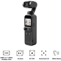 DJI Pocket 2 Action Cam 4K, Ultra HD, Bildstabilisierung, integriertes 3 Achsen-Gimbal, Mini-Kamera,