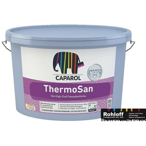 Caparol Thermosan Nqg³ 8 X 12.5 L Hybrid Fassadenfarbe Weiss Silikonharzfarbe