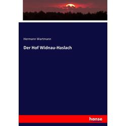 Der Hof Widnau-Haslach als Buch von Hermann Wartmann