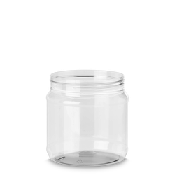 1000 ml PET Dose - rund - klarsichtig