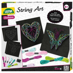 LENA String Art Schmetterling & Herz 42650