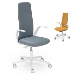 HAWORTH Nia Bürodrehstuhl weiß - Rückenlehne hoch