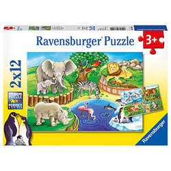 Ravensburger Tiere im Zoo Puzzle 2x 12 Teile