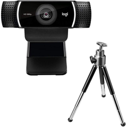 Logitech Logitech HD C922 Pro Stream Webcam, 1080p Kamera Streaming Webcam mit Stativ Full HD-Webcam