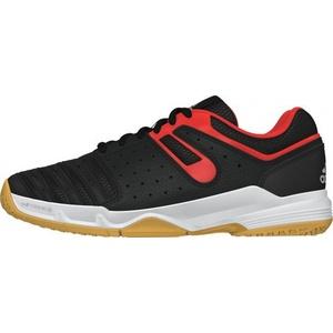adidas Court Stabil, Jungen Handballschuhe, Mehrfarbig - Schwarz/Rot/Silber - Größe: EU 33
