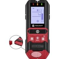 TOOLCRAFT Ortungsgerät inkl. Materialfeuchtigkeitsmesser TO-5137833 Ortungstiefe (max.) 80mm Geeign