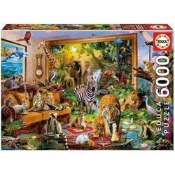Educa Puzzle BETRETEN DES ZIMMERS, 5000 Puzzleteile