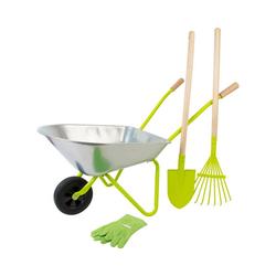 Small Foot Spielzeug-Gartenset Schubkarre mit Gartenwerkzeug