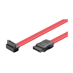 Goobay HDD S-ATA Kabel 1.5 GBits / 3 GBits 90° [0,5m, Rot]