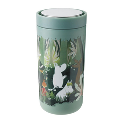 Stelton Coffee-to-go-Becher To Go Click Moomin Soft Dusty Green 400 ml
