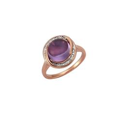 CELESTA Ring 925/- Silber 4x Diamant rot 18,5