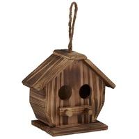 Relaxdays Vogelhaus Deko Vogelhaus aus Holz