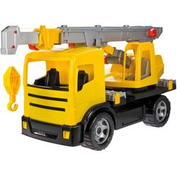 Lena Spielzeug-Krankenwagen Giga Trucks, gelb-schwarz, Made in Europe gelb Kinder Ab 3-5 Jahren Altersempfehlung