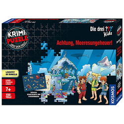 KOSMOS KRIMI-PUZZLE Die drei ??? Kids - Achtung, Meeresungeheuer! Puzzle 150 Teile