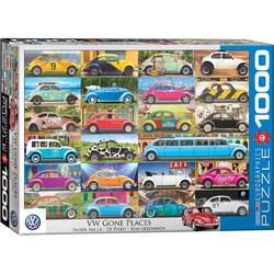 empireposter Puzzle Volkswagen Käfer - weitgereist - 1000 Teile Puzzle Format 68x48 cm., 1000 Puzzleteile
