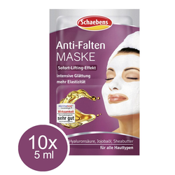 10x 5ml Schaebens Anti Falten Gesichtsmaske Maske Sofort Lifting Effekt Straffung