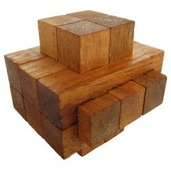 Logoplay Holzspiele Spiel, Notched - 3D Puzzle - Denkspiel - Knobelspiel - Geduldspiel - Logikspiel aus Holz Holzspielzeug