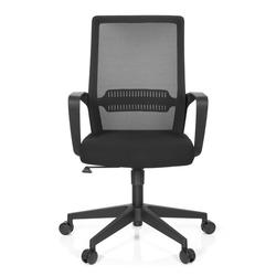 PRESTON - Home Office Bürostuhl Schwarz