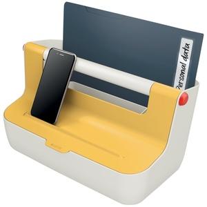 Leitz 61250019  Aufbewahrungsbox  Weiß  Gelb  Rechteckig  Acrylnitril-Butadien-Styrol (ABS)  Einfarbig  Indoor