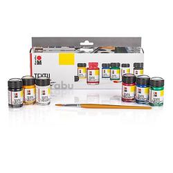 "Marabu Stoffmalfarben-Set ""Grundfarben"", 6x 15 ml"
