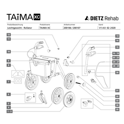 10 - Dietz Ersatzteil Sitzbespannung TAiMA XC