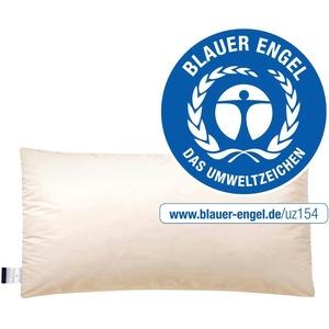Federkopfkissen, E14 Greta, billerbeck, (1-tlg), Das Kissen mit dem blauen Engel 40 cm x 80 cm