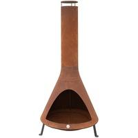 Westmann Feuerstelle mit Rauchablass Rost, 70x70x160 cm