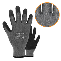 Asatex 3760 Arbeitshandschuhe - Strickhandschuhe mit Latexbeschichtung - Gr. 8 / M - 72 Paar