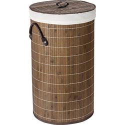 Wenko Wäschetruhe Bamboo Dunkelbraun, Wäschekorb, 55l