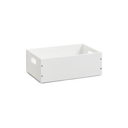 HTI-Living Aufbewahrungsbox Aufbewahrungskiste weiß stapelbar MDF, Aufbewahrungskiste 20 cm x 11 cm
