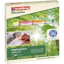 Edding Textmarker e-24 EcoLine 4-24-4 Gelb, Orange, Grün, Pink 2 mm, 5mm 1 Set