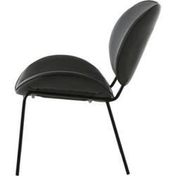 Kunstleder Esszimmerstuhl Salut grau Stuhl Polsterstuhl Küchenstuhl Wohnzimmer