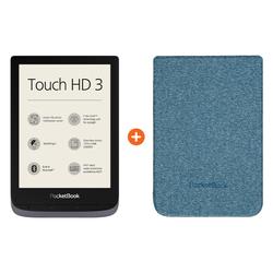Pocketbook Touch HD 3 Grau + Pocketbook Shell Touch HD 3 Blau
