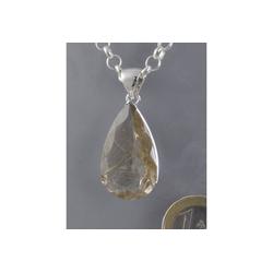 Adelia´s Kettenanhänger Rutilquarz Anhänger 925 Silber