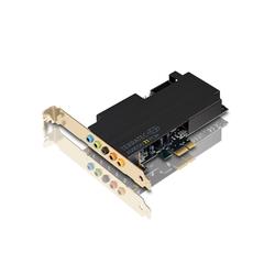 Terratec AUREON 7.1 PCIe Soundkarte, Low-Profile PC 7.1 Soundkarte, Digitale / Analoge 3.5mm Ein- und Ausgänge (optisch/koaxial), Gamer, SPDIF, ASIO Treiber, Mini-PC geeignet, 12001